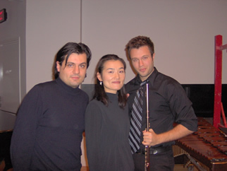 with Composer Mr.Cavallone and Flutist Mr.Scirri