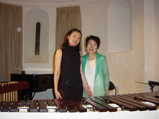 with Keiko Abe, after concert